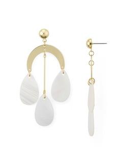 AQUA Triple Shell Drop Earrings - 100% Exclusive