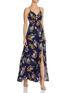 AQUA Tropical Print Maxi Dress - 100% Exclusive