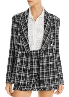 AQUA Tweed Plaid Blazer - 100% Exclusive