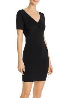 AQUA Twist Detail Mini Dress - 100% Exclusive