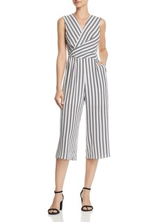 AQUA Twist Detail Striped Jumpsuit - 100% Exclusive