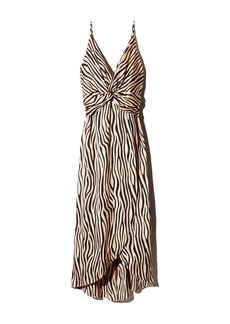 AQUA Twist-Front Zebra Print Dress - 100% Exclusive