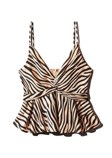 AQUA Twist-Front Zebra Print Top - 100% Exclusive