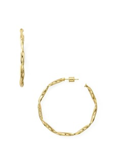 AQUA Twist Hoop Earrings in 18K Gold-Plated Sterling Silver or Sterling Silver - 100% Exclusive