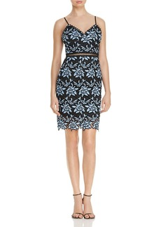AQUA Two-Tone Lace Body-Con Dress - 100% Exclusive