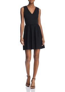 AQUA V-Back Fit-and-Flare Dress - 100% Exclusive