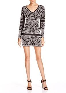 AQUA V-Neck Embellished Dress - 100% Exclusive
