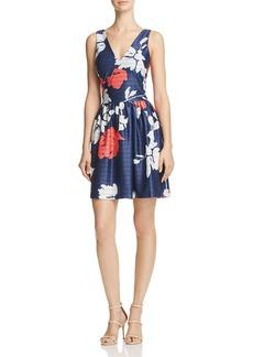 AQUA V-Neck Fit-and-Flare Dress - 100% Exclusive