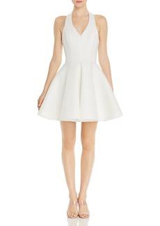 AQUA V-Neck Halter Scuba Dress - 100% Exclusive