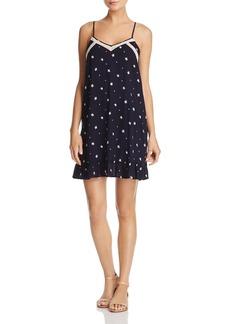 AQUA V-Neck Star-Print Slip Dress - 100% Exclusive