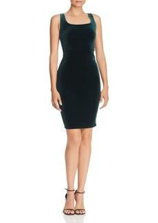 AQUA Velvet Body-Con Dress - 100% Exclusive