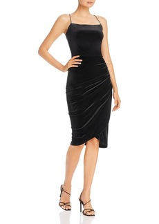 AQUA Velvet Body-Con Dress - 100% Exclusive