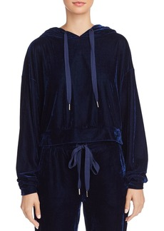 AQUA Velvet Cropped Hooded Sweatshirt - 100% Exclusive