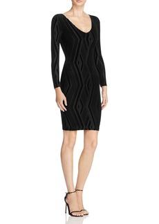 AQUA Velvet Devor� Body Con Dress