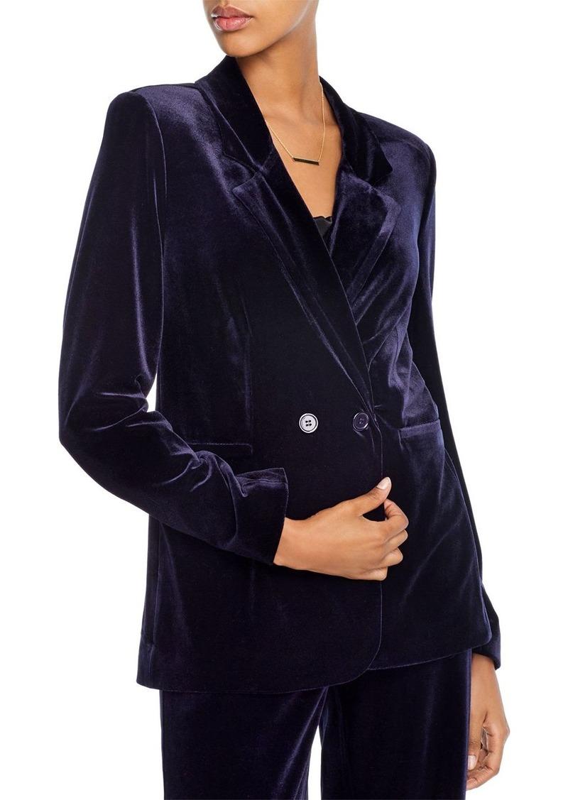 AQUA Velvet Double-Breasted Blazer - 100% Exclusive