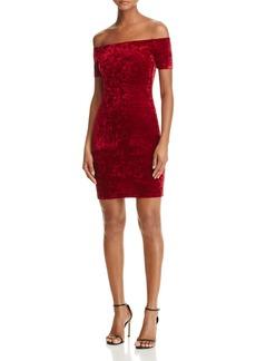 AQUA Velvet Off-the-Shoulder Dress - 100% Exclusive
