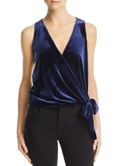 AQUA Velvet Sleeveless Wrap Top - 100% Exclusive