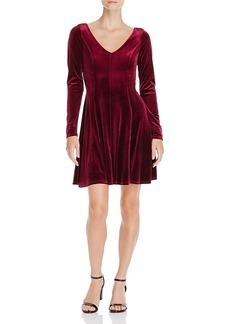 Aqua Velvet V-Back Dress - 100% Exclusive