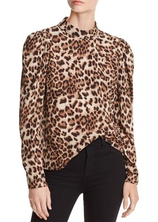 AQUA Victorian Leopard Print Top - 100% Exclusive