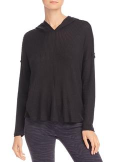 AQUA Waffle-Knit Hooded Sweatshirt - 100% Exclusive