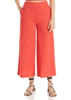 AQUA Wide-Leg Cropped Pants - 100% Exclusive