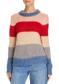 AQUA Wide Stripe Crewneck Sweater - 100% Exclusive