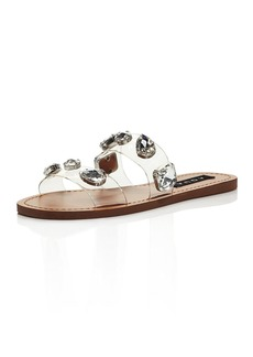 AQUA Women's Daze Rhinestone-Strap Slide Sandals - 100% Exclusive