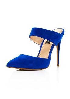 AQUA Women's Dee Pointed Toe High-Heel Mules - 100% Exclusive