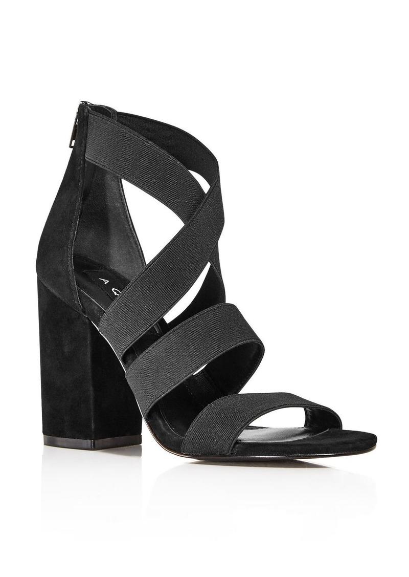 AQUA Women's Frenz Strappy Block Heel Sandals - 100% Exclusive