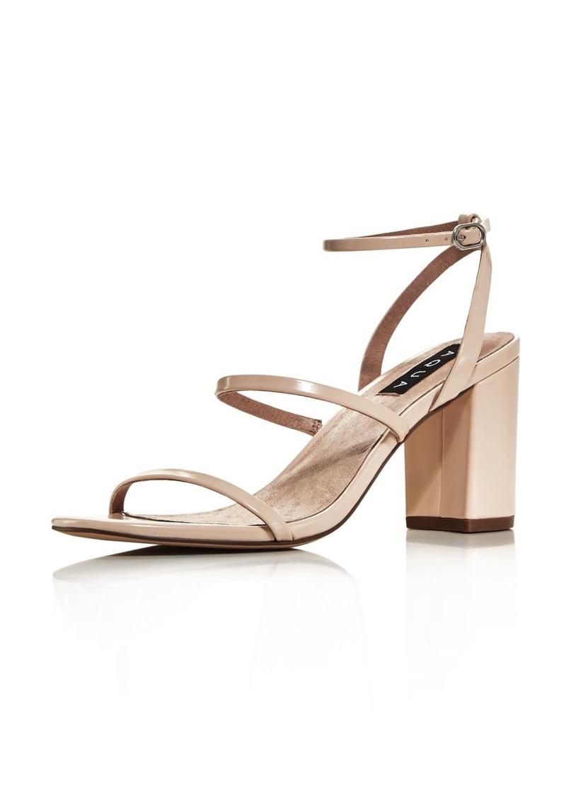 fecd0cfa42a Aqua AQUA Women s Maika Block-Heel Leather Sandals - 100% Exclusive ...