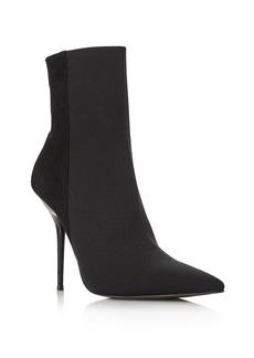AQUA Women's Mine Suede & Stretch Stiletto Booties - 100% Exclusive