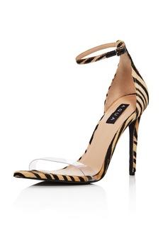AQUA Women's Siri Clear & Calf Hair High-Heel Sandals - 100% Exclusive