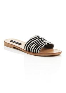 AQUA Women's Zebra Print Slide Sandals - 100% Exclusive
