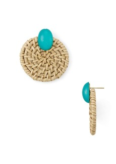 AQUA Woven Circle Earrings - 100% Exclusive
