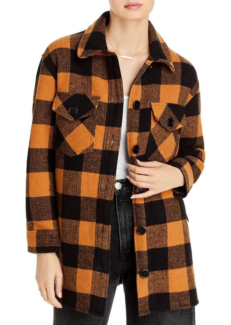 AQUA Woven Plaid Coat - 100% Exclusive
