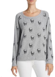 AQUA x Lauren Moshi Distressed Skull-Print Sweatshirt - 100% Exclusive