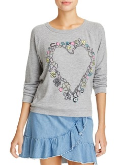 AQUA x Lauren Moshi Heart Charm Graphic Sweatshirt - 100% Exclusive