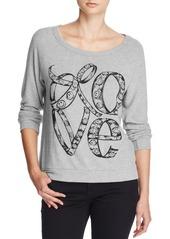 AQUA x Lauren Moshi Love Print Top - 100% Exclusive