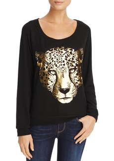 AQUA x Lauren Moshi Metallic Leopard Graphic Sweatshirt - 100% Exclusive