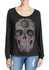 AQUA x Lauren Moshi Rhinestone Skull Top - 100% Exclusive