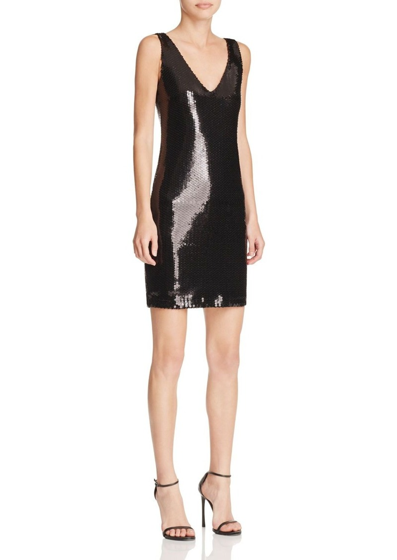AQUA x Maddie & Tae Sequin Double V Dress - 100% Bloomingdale's Exclusive