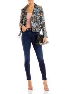 AQUA x Mary Katrantzou Butterfly Print Leather Jacket - 100% Exclusive