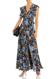 AQUA x Mary Katrantzou Butterfly Print Maxi Dress - 100% Exclusive
