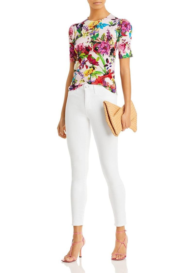 AQUA x Mary Katrantzou Floral Print Puff Sleeve Sweater - 100% Exclusive
