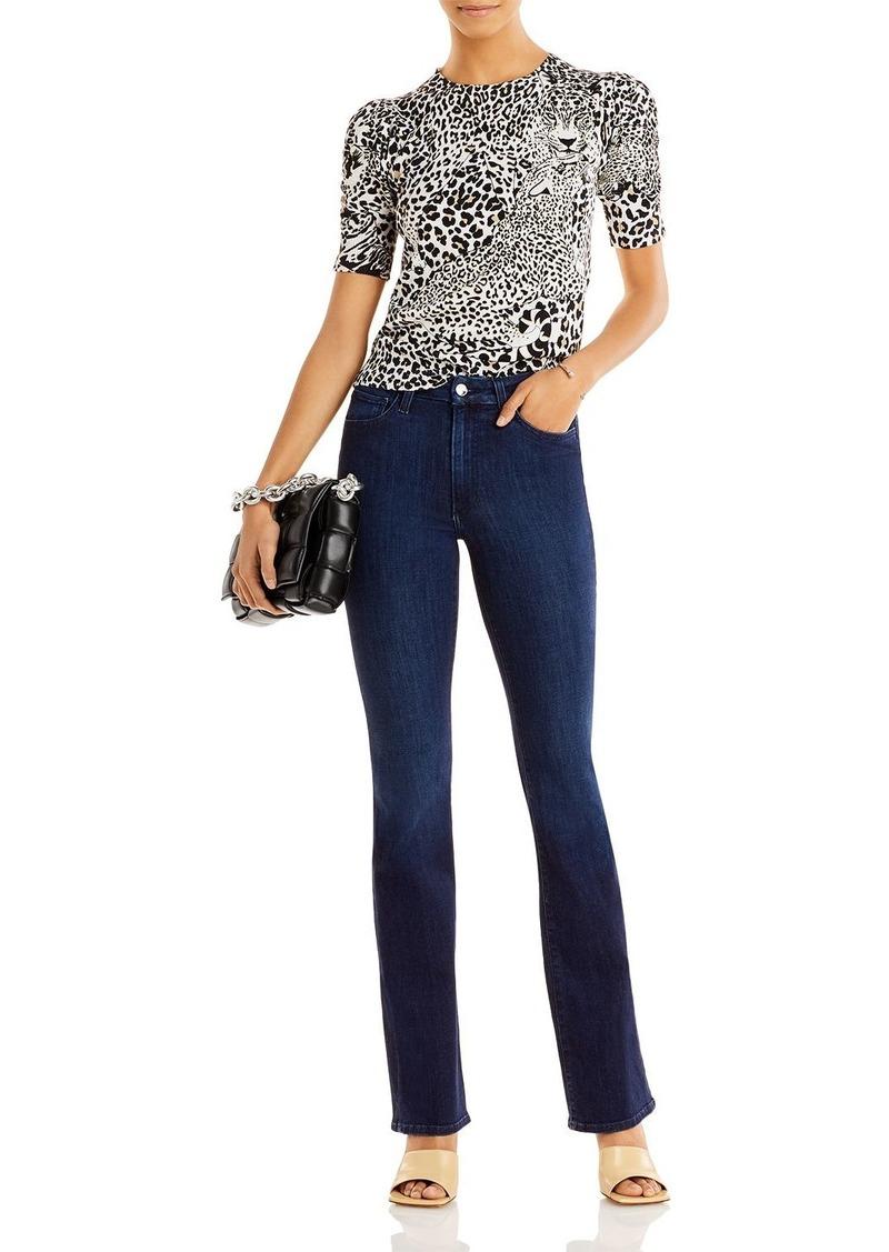 AQUA x Mary Katrantzou Leopard Print Puff Sleeve Sweater - 100% Exclusive