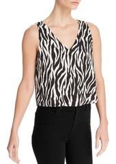 AQUA Zebra Print Cropped Top - 100% Exclusive