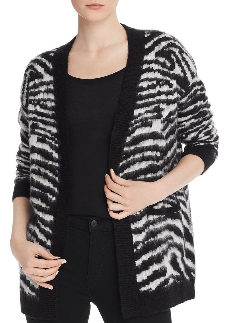 AQUA Zebra-Print Open-Front Cardigan - 100% Exclusive
