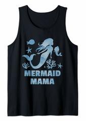 Aqua Mermaid Mom Mama Great Party Funny Mer Birthday Gift Tank Top