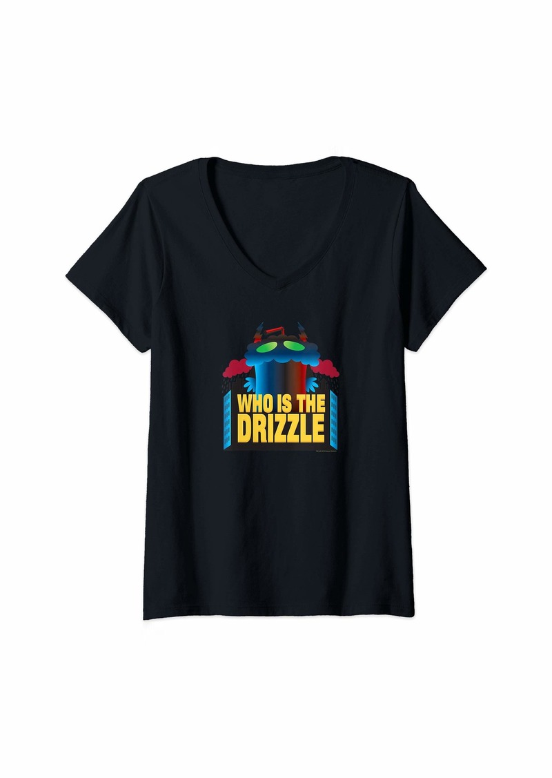Womens Aqua Teen Hunger Force Who is the Drizzle V-Neck T-Shirt
