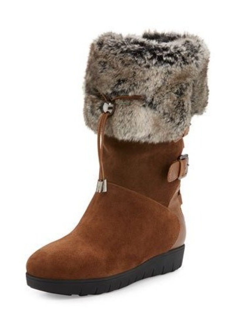 Aquatalia by Marvin K Westley Faux-Fur Trimmed Boot